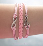 Pink Treble & Peace Bracelet